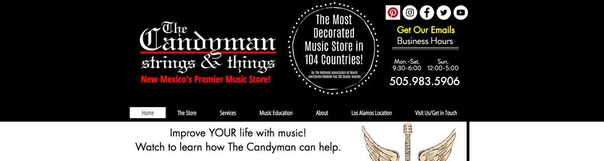 Learn from The Candyman Strings & Things